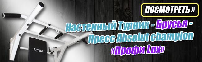 Турник Брусья Пресс Absolut сhampion «Профи Lux» до 250кг Белый