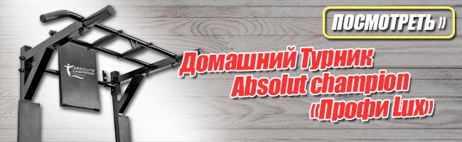 Турник Брусья Пресс Absolut сhampion «Профи Lux» до 250кг Черный