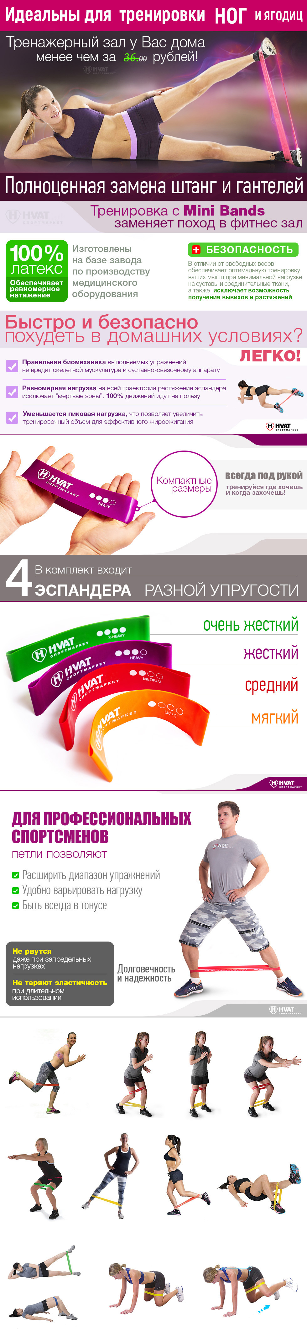 mini bands, mini bands купить, резинка для фитнеса, резинка для фитнеса для ног, фитнес резинка