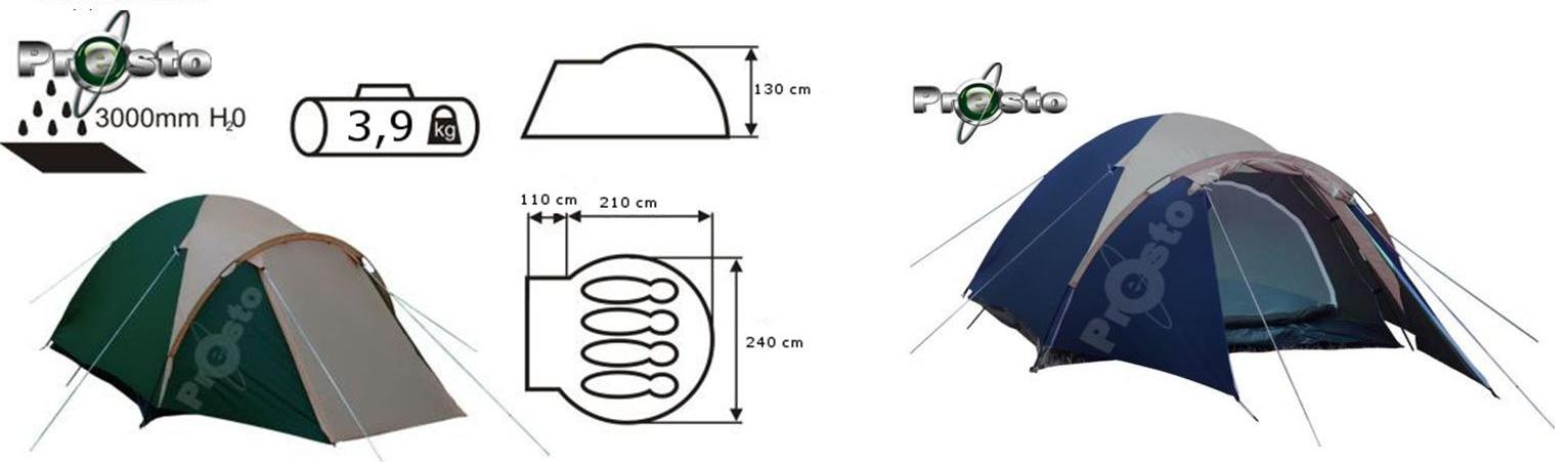 Палатка ACAMPER ACCO blue 2-3-местная 3000 мм/ст sportmax.by