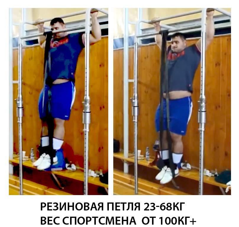 Турник Резиновая-петля-23-68кг-Вес-спортсмена-100кг+ Sportmax.by